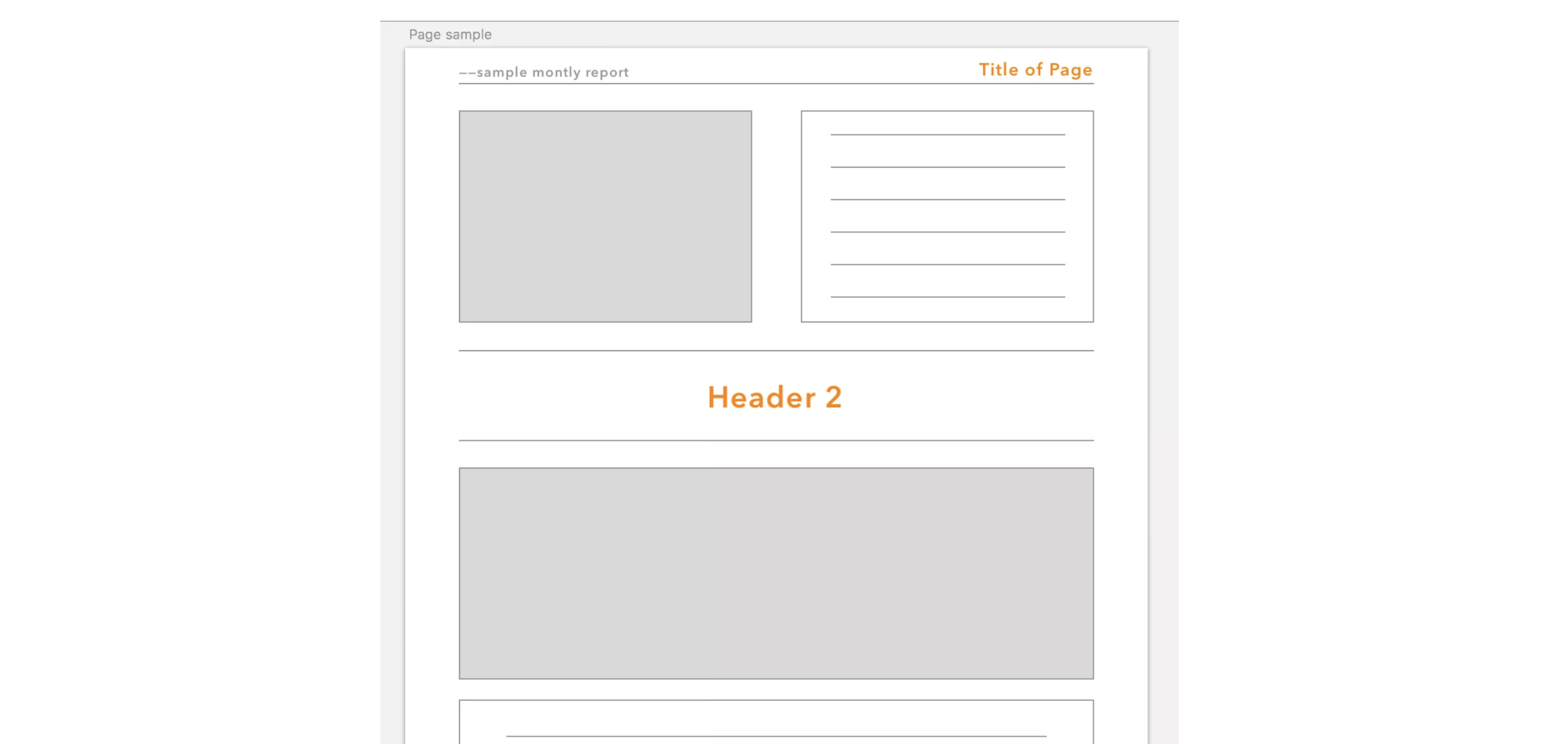 Sample Report Template Design